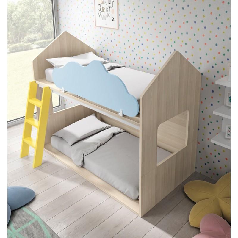Litera con forma de casita de inspiraci n montessori - Literas en forma de l ...