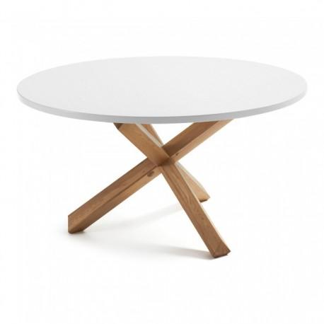 Mesa de comedor redonda de estilo n rdico con pies de - Mesa redonda cristal ikea ...