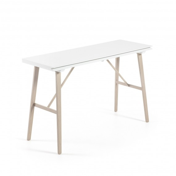 Consola extensible Aryon que se convierte en mesa de comedor ...