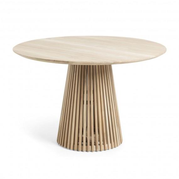 Mesa redonda de comedor Irune en madera de teca natural con un ...