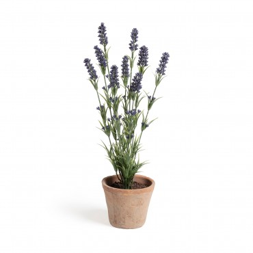 LAVANDA ARTIFICIAL EN MACETA FLOWER