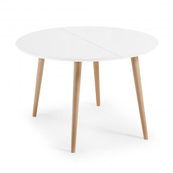 mesa de comedor redonda y extensible de diseño nórdico Ø120 cm |no ...