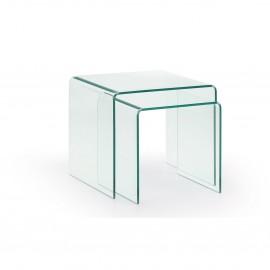 Mesas dise o nordico mesas auxiliares mesas de centro - Mesitas auxiliares de cristal ...