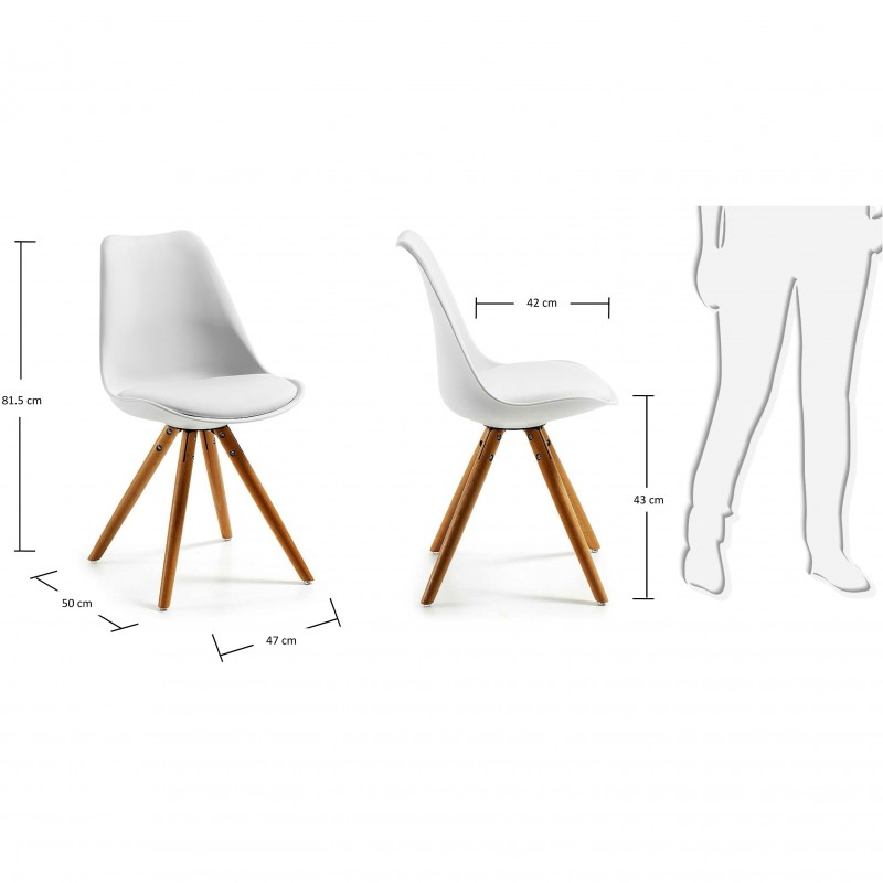Sillas de dise o sillas de madera sillas estilo n rdico for Sillas plastico diseno